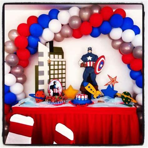 capitan america decoracion ambientacion cotilln fiestas decoraci 243 n con globos quot capit 225 n am 233 rica quot ideas para el