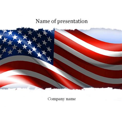 American Powerpoint Templates American Flag Powerpoint Template Background For Presentation