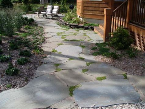 Design Ideas For Flagstone Walkways Laying Flagstone Walkways To Enhance The Look Of Your Patios Home Design Interiors