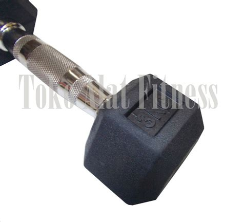 Dumbell Fix Rubber 5kg dumbell rubber hex 3kg toko alat fitness
