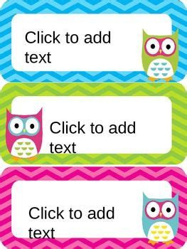 printable owl desk tags 17 best images about owl themed classroom on pinterest