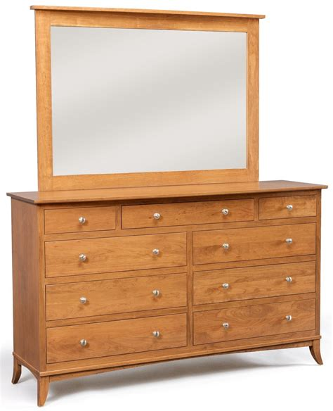 Daniel S Amish Bedroom Furniture 9 Drawer Dresser W Wide Mirror By Daniel S Amish Collection S
