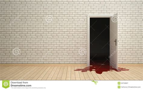 Room Running Time Open Door With Blood Running Out Stock Photo Image 53753607