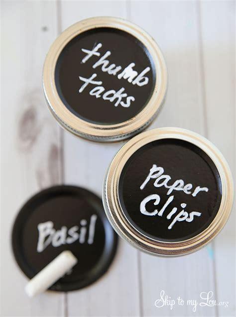 chalkboard paint jar lids chalkboard lids for organization skip to my lou