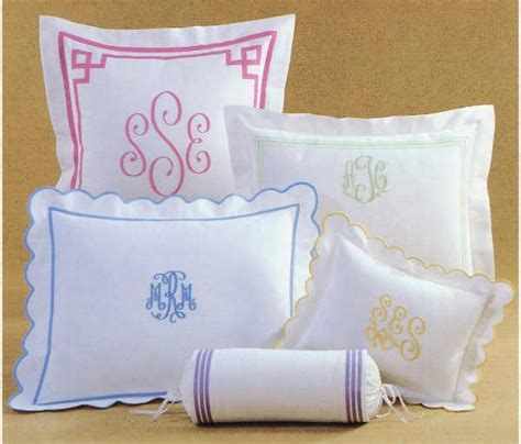 Monogram Pillow Sham by Monogrammed Pillow Sham From Wilner Designs