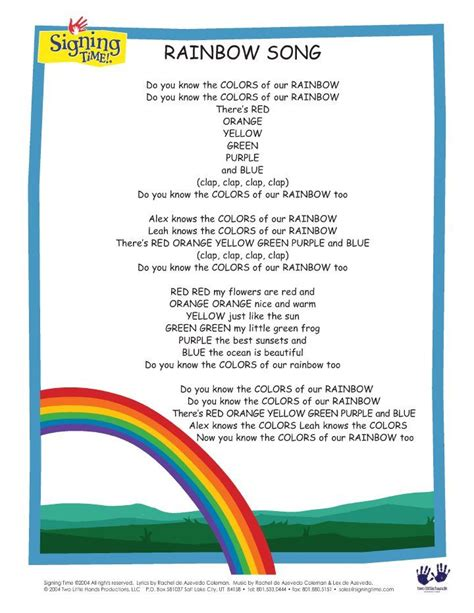 colors of the rainbow lyrics rainbow song lyrics i some of these things aren t