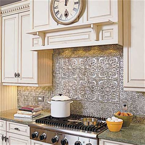 tin kitchen backsplash dishfunctional designs embossed tin ceiling tiles
