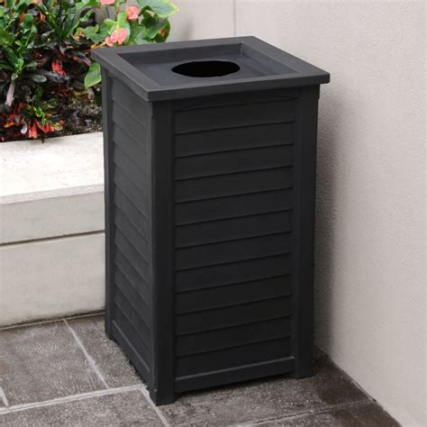 decorative recycling containers for home decorative outdoor trash receptacles iron blog