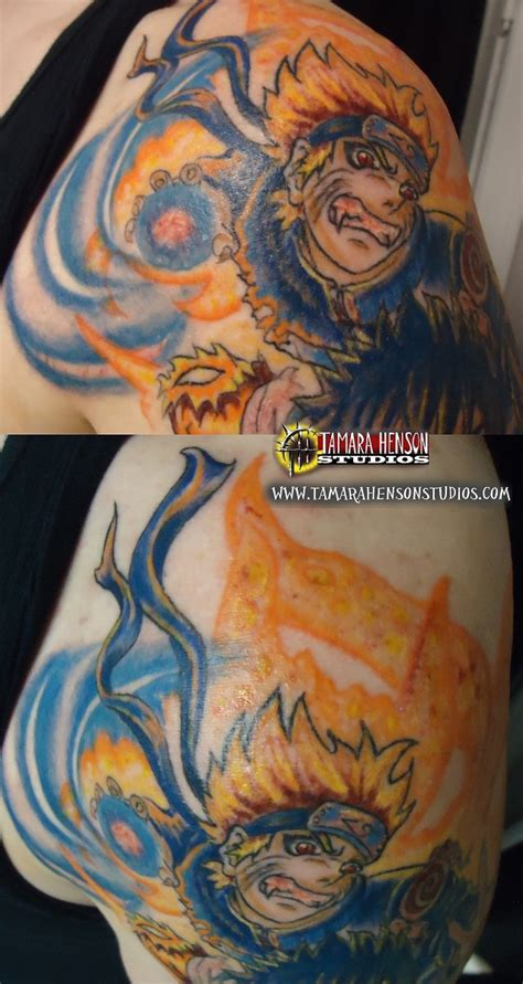 tattoo naruto half sleeve session 3 closeup by briescha