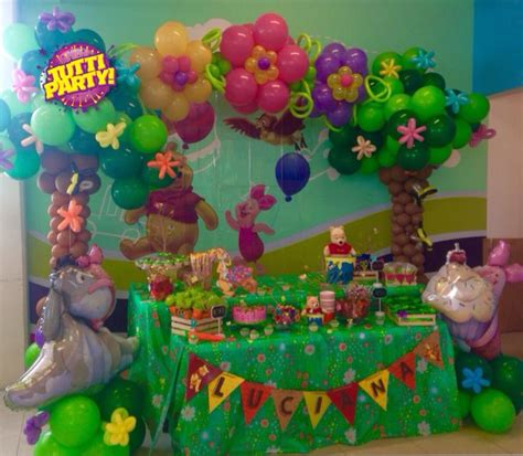 Winnie The Pooh Decorations by Winnie The Pooh Arch Balloons Decorations Arco De Globos Winnie Pooh Tree And Flowers Arch