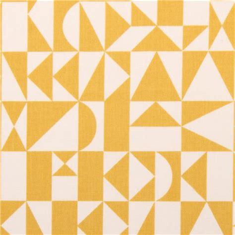yellow geometric pattern fabric rio geo birch organic fabric yellow geometric print dots