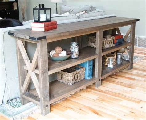 ana white sofa table ana white rustic x console diy projects
