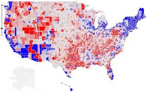 us map of republican and democratic states 2014 democrats are from cities republicans are from exurbs