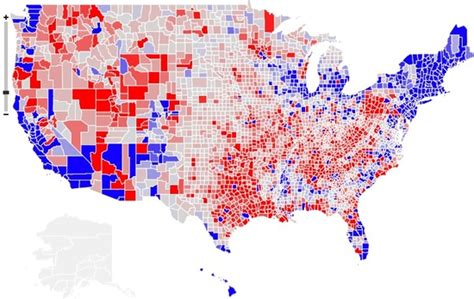 map of usa democrat vs republican democrats are from cities republicans are from exurbs