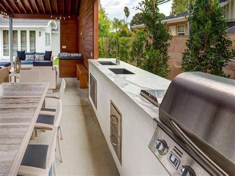 outdoor kitchen countertop options hgtv