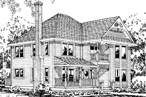 House Plan For Narrow Lot victorian house plans astoria 41 009 associated designs