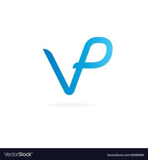 monogram letters p logo design template vector image