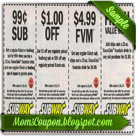 printable subway coupons canada 25 best ideas about subway coupon code on pinterest