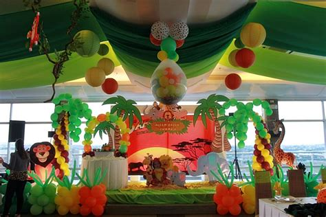 1st birthday jungle theme decorations of three safari adventure birthday