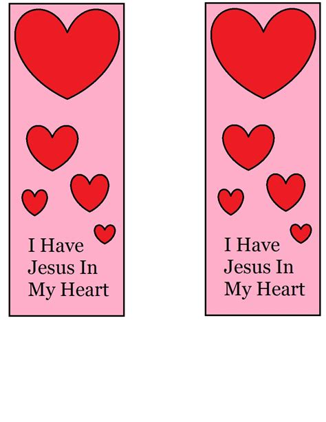valentines bookmarks church house collection s day bookmarks