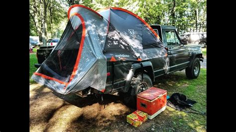 jeep pop up tent jeep truck tent youtube