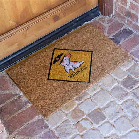 beware  dog door mats