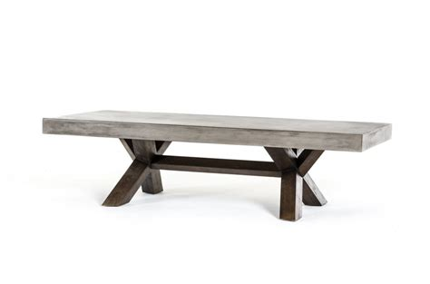 Concrete And Wood Coffee Table Concrete Wood Coffee Table Modern Furniture Brickell Collection