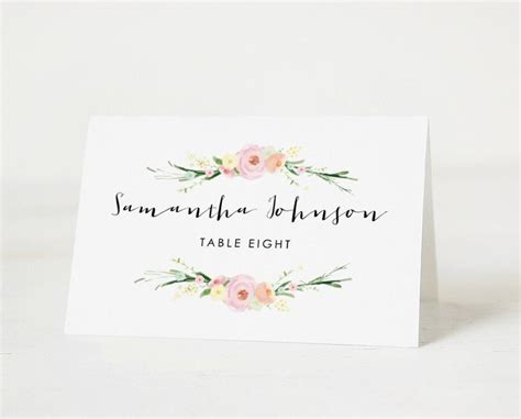 place card template 8 5 x 11 25 best wedding name tags ideas on wedding