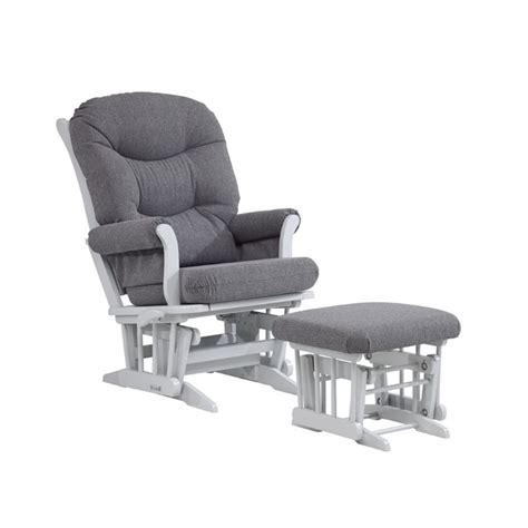 nursing gliders and ottomans dutailier multiposition glider and nursing ottoman in gray