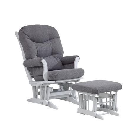 dutailier sleigh glider multiposition recline nursing ottoman combo dutailier multiposition glider and nursing ottoman in gray