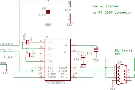 rs232 to usb adapter schematic usb to serial adapter