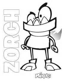 mixel coloring pages mixels coloring page zorch my corner
