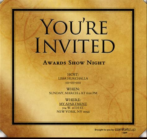 award invitation template viewing coffee bar evite