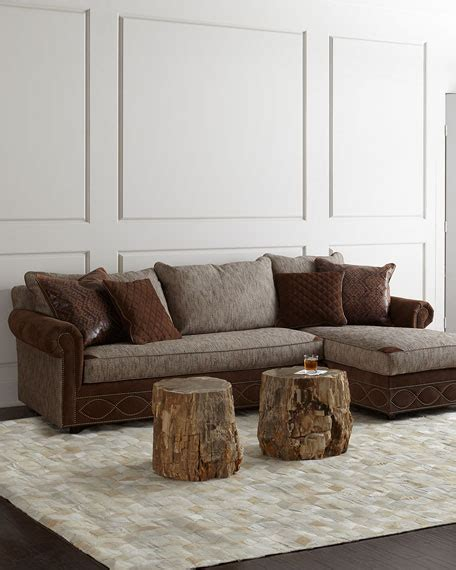 horchow sectional old hickory tannery witten chaise sectional