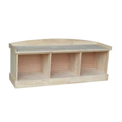 unfinished wood storage bench international concepts unfinished storage bench be 150