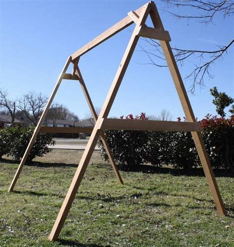 swing support frame new all cedar tall a frame for porch swing stand support a
