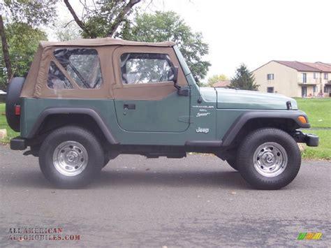 1999 Jeep Sport Transmission 1999 Jeep Wrangler Sport 4x4 In Medium Fern Green