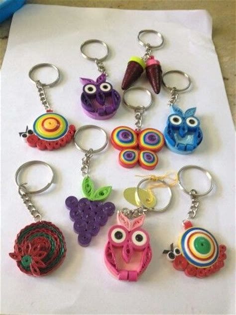 paper quilling keychain tutorial quilling keychain keychains pinterest quilling