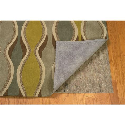 premier home decor linon home decor underlay premier plush grey and multi 5