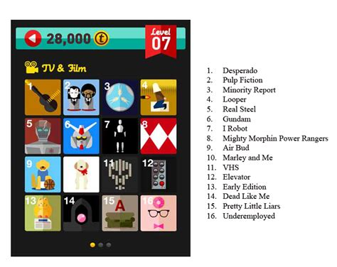 film quiz level 25 icon pop quiz tv and film level 7 answers free icons