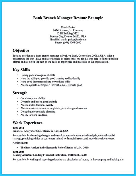 career objective banking starting successful career from a great bank manager resume