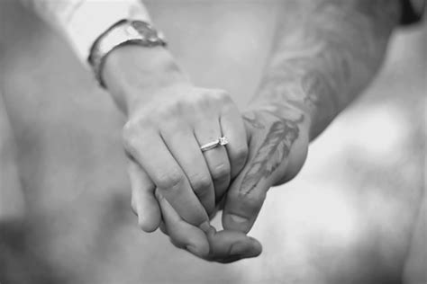 couple tattoo photography black and white b w black and white couple hand hands image 308502