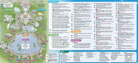 printable epcot tickets 2014 walt disney world park maps with fastpass photo 4 of 8