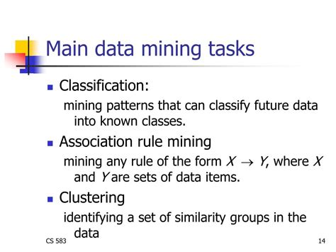 pattern classification in data mining ppt cs583 data mining and text mining powerpoint