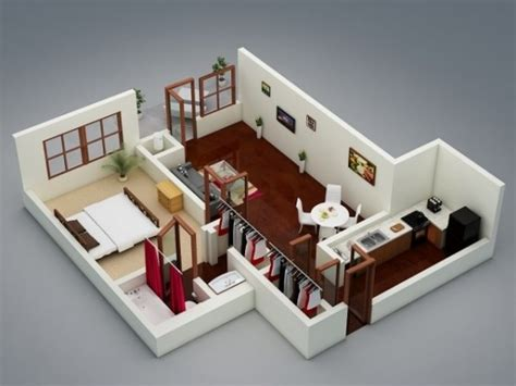 1 Bedroom Apartment House Plans One Bedroom Home Designs