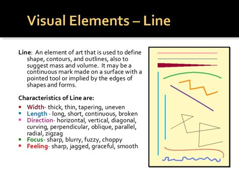 design definition of line elements principles of design