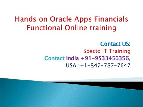 online tutorial r hands on oracle apps r12 financials online training