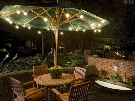 Patio Lighting Ideas Love The Garden Lights For Patios