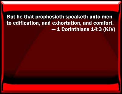 edification exhortation and comfort bible verse powerpoint slides for 1 corinthians 14 3