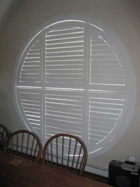 circular window coverings plantation shutter